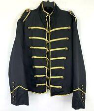 Michael Jackson Costume Jacket Black Gold Dangerous Mens Large OSFM