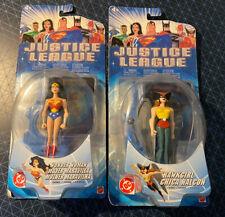 "Wonder Woman Hawkgirl Justice League Animated 4 3/4"" Figure Mattel DC Unlimited"