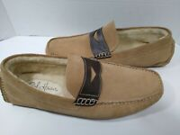Men's Cole Haan Tan Leather Driving Moccasin Loafer Sherpa Shoe Slipper Size 10