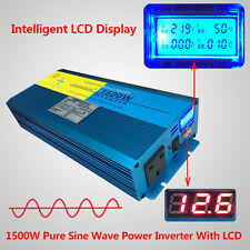 1500W 3000W pure sine wave power inverter DC 12v to AC 230v car converter trip