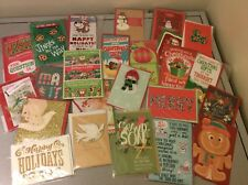 Mixed Lot of 24 Assorted Christmas Holiday Greeting Cards Premium 3D 3-D Cool