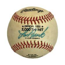 Lou Brock 3000th Hit Signed Rawlings Commemorative Baseball St. Louis Cardinals