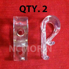 Qty (2) Looped Cord or Chain Hold Down - Tensioner - Window Blind Loop