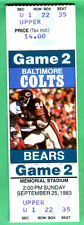 ***WALTER PAYTON PHOTO FULL TICKET-9/25/83 BEARS...COLTS LAST YEAR IN BALT