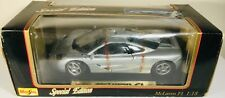 MAISTO 1/18 SPECIAL EDITION MCLAREN F1 1993 DIECAST SPORTS CAR MODEL IN SILVER