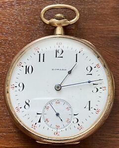 1915 E Howard Pocket Watch Co Model 1912 12s 17j Series 7 Open Face Crescent