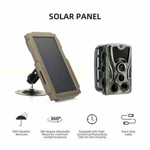Outdoor Hunting Camera Solar Panel Power Supply Charger Battery for trail cam