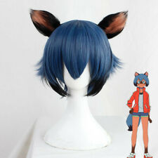Anime BNA Kagemori Michiru Cosplay Wig Gradient Blue Black Mixed Short Hair Wig