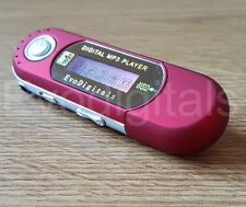 RED EVO 4GB MP3 WMA USB Lettore musicale con schermo LCD RADIO FM REGISTRATORE VOCALE +