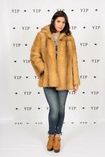 60 S 70 S VINTAGE Faux cappotto di pelliccia di volpe da safari Y-simulata pelliccia