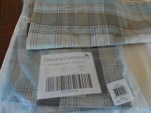 "Country Curtains  ""EMMETT"" 4 Panels Tier Curtains Breeze"