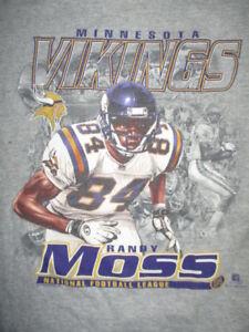Lee Sport 1999 RANDY MOSS No. 84 MINNESOTA VIKINGS (Youth LG) T-Shirt
