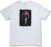 New 2015 Dakine Mens Skull Flag S/S T-Shirt Tee Large White