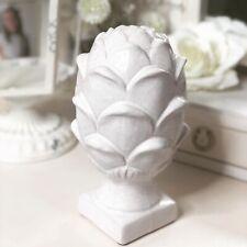 French Inspired Antique White Cream Ceramic Artichoke Decorative Ornament 20cm