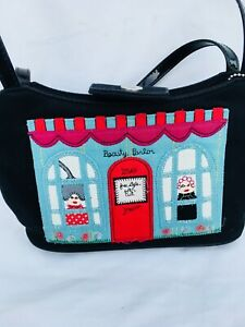 VINTAGE FOREVER FOSSIL PICTURE BAG 'BEAUTY PARLOUR' SMALL SUMMER/EVENING BAG