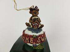 New ListingBoyds Bears & Friends Bearstone Christmas Ornament Bailey Home Sweet Home Nib