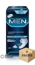TENA Men Absorbent Protector For Men - Level 1 - Case - 6 Packs of 24 - 144 Pads