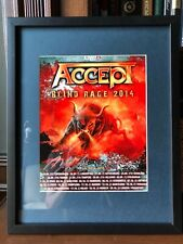 Accept (autographed by Mark Tornillo) lead singer