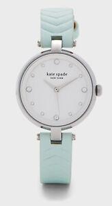 Kate Spade Annadale Mint Leather | Silver Women's Watch KSW1627 $178