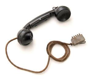 Wehrmacht Feldfernsprecher 33,Feldtelefon,Telefonhörer,Hörer,ww2 field telephone