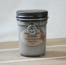 8 oz. Antique Sandalwood Handmade Natural Soy Wax Wood Wick Brown Candle