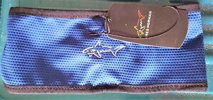 **NEW** Greg Norman 'Shark' Headband - Navy (Royal) Blue GNK05