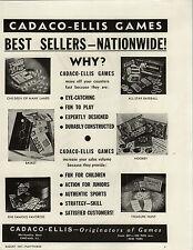 1947 PAPER AD Cadeco Ellis Board Games All Star Baseball Hookey Hockey  Bas Ket