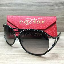 Caviar M2004 Sunglasses Black Austrian Crystals C24 Authentic 62mm