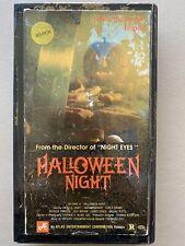 Halloween Night aka Hack-o-lantern VHS Tape Cut Box Horror Movie Rare Priority