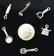 Tablets Very Special FIVE Different Pewter JUDAICA CHARMS Chai Moses...