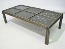 Rare 1970's Vintage McGuire Coffee Table With Six Inset Couroc Trays