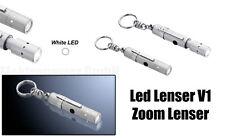 Led Lenser V1 Zoom lenser 7677 Flashlight with Key ring/Lamp/Light