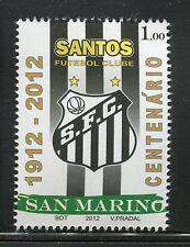 SAN MARINO 2012 CENTENARIO SANTOS FUTEBOL CLUBE/BRESIL/FOOTBALL/SOCCER/EMBLEM