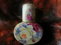 Vintage Nippon Maple Leaf  Yellow Rose Flask with Matching cap