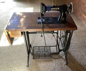 VINTAGE POWERFUL SINGER 103K INDUSTRIAL SEWING MACHINE, ROTATING HOOK AND TABLE