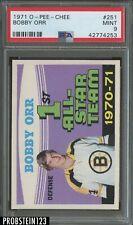 """1971 O-Pee-Chee OPC Hockey #251 Bobby Orr Boston Bruins PSA 9 """" RAZOR SHARP """""""