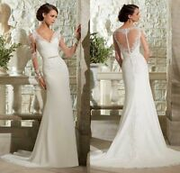 2017 New White/Ivory Wedding Dress Bridal Gown custom size 6-8-10-12-14-16