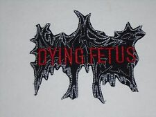 DYING FETUS IRON ON EMBROIDERED PATCH