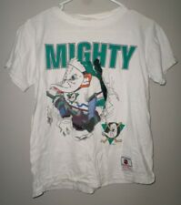 FLORIDA MIGHTY DUCKS youth lrg T shirt Anaheim hockey tee Nutmeg goalie mask OG