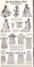 1913 Antique Fashion Print The Little Mother's Doll clothes Needlecraft  sew