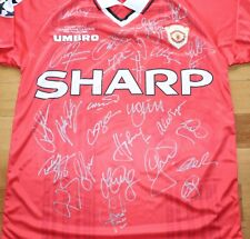 Manchester United 1999 Signed Treble Football Jersey Shirt – 100% authentic COA