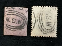 Australien (Britische Kolonien) Neusüdwales ab 1854 - Marken mit Stempel N.S.W.