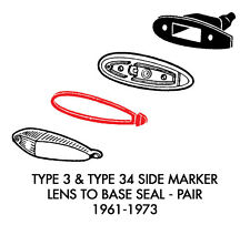 New VW Type 3 Side Marker Lens to Base Seals Pair 1961-1973