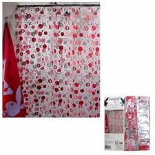 Playboy Bunny Logo Pink White Printed PVC Shower Curtain With Hooks 180 X Cm