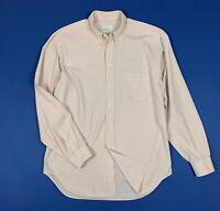 Trussardi shirts camicia uomo usato L 16 tg 41 manica lunga a righe rosa T5935