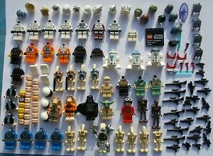 Genuine LEGO Star Wars Minifigures Spares Minifig Headgear Weapons Large Job lot