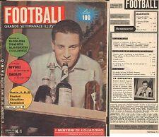 RIVISTA-CALCIO-FOOTBALL-SETTIMANALE ILLUSTRATO-5 GENNAIO 1961-SIVORI-LOJACONO