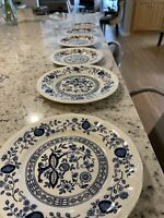 Kensington   2 Blue Onion Salad Plates And  4 Saucers Ironstone Germany