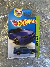 Nissan Skyline R34 HW Workshop Hot Wheels Blue JDM Diecast