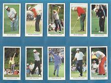 Dormy cigarette/trade cards  GOLF THE MODERN ERA - MAJOR TITLE WINNERS 1958-1993